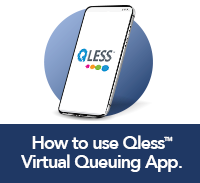 How to use QLess Virtual Queuing App